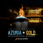 Azuria and Gold Fireglass by Glaz Chips