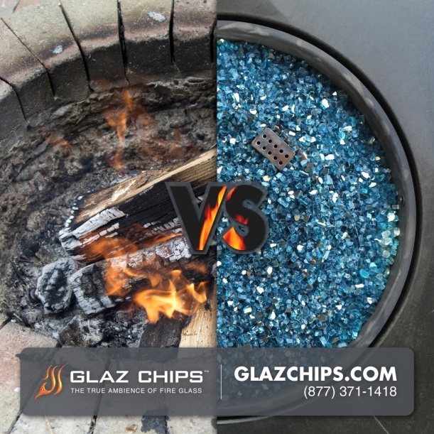 Logs vs Fire Glass